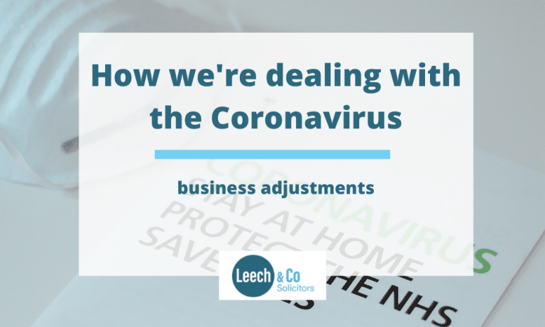 Leech & Co - how we're dealing with the Coronavirus